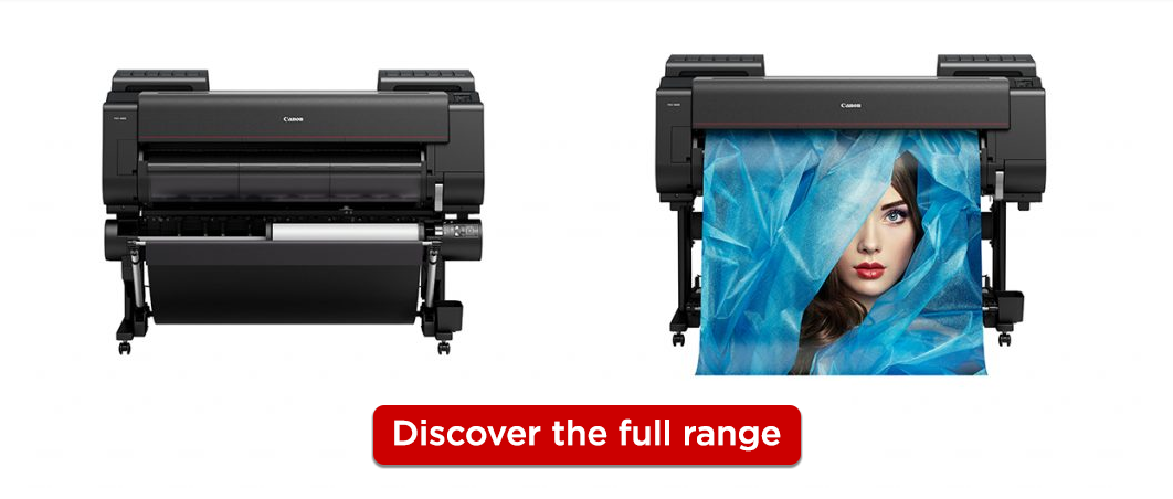 Canon Professional Large Format Printers_Discover the full range banner