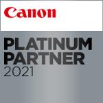 Canon Platinum Partner logo 2021