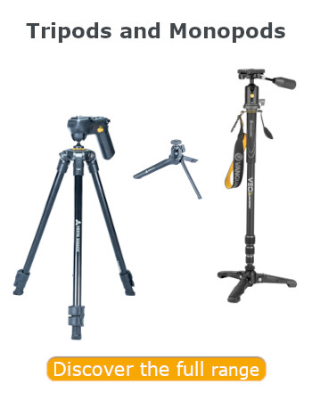Vanguard Tripods and Monopods_Discover more banner